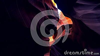 Canyon inf?rieur d'antilope en Arizona - l'endroit le plus bel dans le d?sert banque de vidéos
