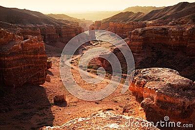 Canyon in the Kazakhstan