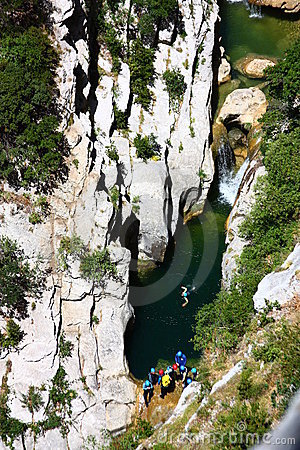 Canyoning in Galamus canyon