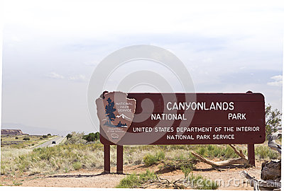 Canyonlands National Park sign