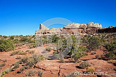Canyonlands pustyni krajobraz