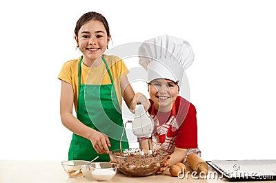 Caçoa a massa de pão de mistura
