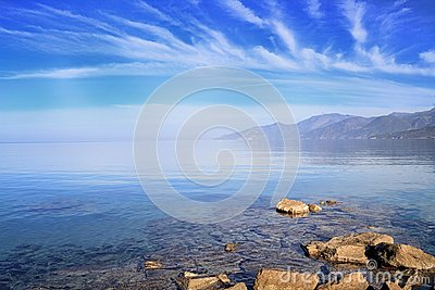 Cap Corse under an azure sky