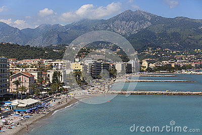 Cap Martin Resort - South of France Editorial Stock Image