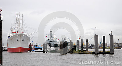 Cap San Diego in the harbor of Hamburg Editorial Stock Photo