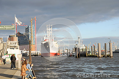 Cap San Diego in the harbor of Hamburg Editorial Photography