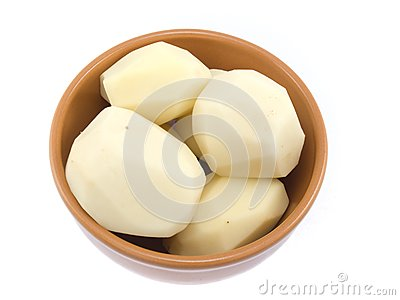 Capacity with the cleared potato