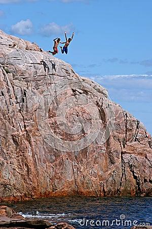Free Cape Breton Cliff Divers Royalty Free Stock Photo - 1278695