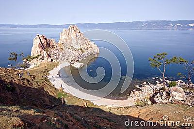 Cape Burkhan, Lake Baikal, island Olkhon.