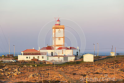 Cape Carvoeiro lighthouse in Peniche, Portugal
