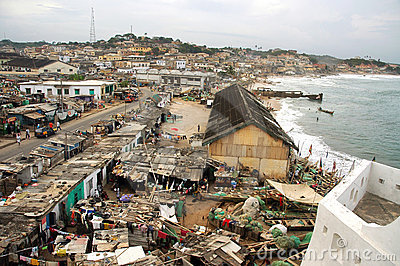 Cape Coast township from castle