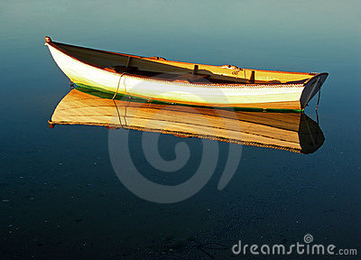 Cape Cod Dory Reflection