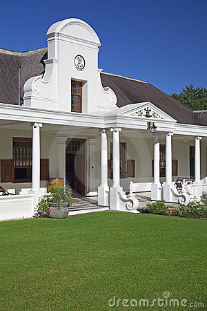 Cape Dutch style house in winelands, South Africa