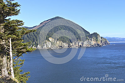 Cape Falcon viewpoint Oregon coast.