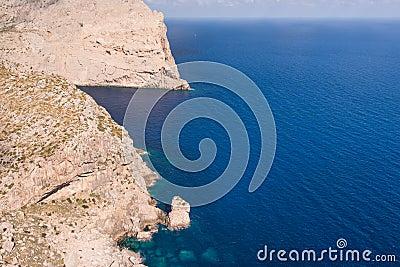 Cape Formentor in the coast of Mallorca
