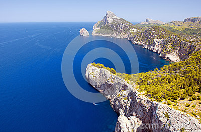 Cape Formentor in the Coast of North Mallorca