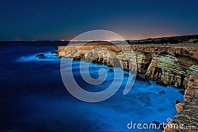 Cape greko,cyprus at night