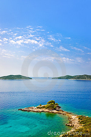 Cape and islands in Croatia