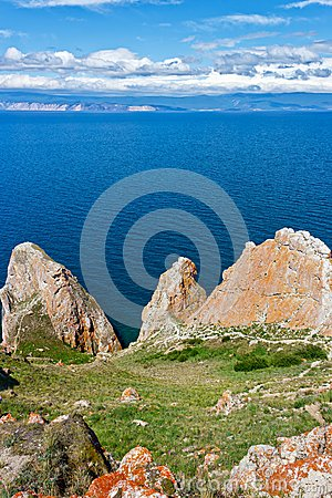 Cape Sagan-Hushun on island Olkhon