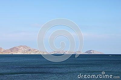 Cape in sea