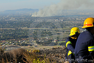 Cape Town Fires Editorial Stock Photo
