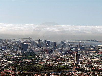 Cape Town top view