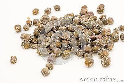 Capers under salt