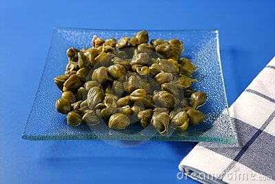 Capers With Vinegar Snack Stock Image - Image: 9679101