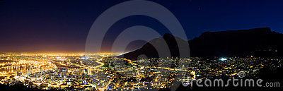Capetown at night