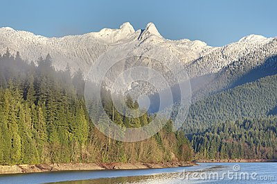 Capilano Reservoir and the Lions, Vancouver, British Columbia