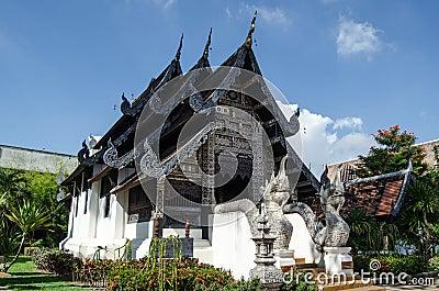 Capilla histórica, Wat Chedi Luang, Tailandia