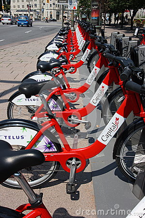 Capital BIXI Bike Station Editorial Stock Image