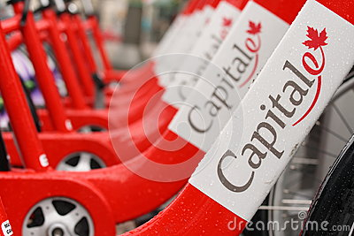 Capital BIXI Bikes Editorial Stock Image