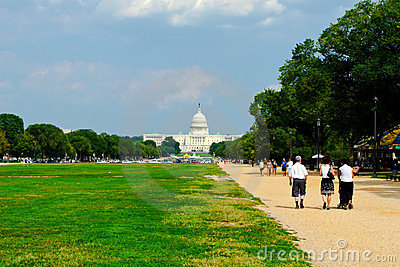 Capital Building at National Mall Editorial Stock Image