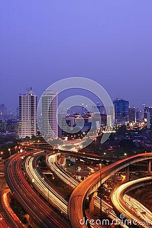 Free Capital City At Dusk Stock Photography - 3129852