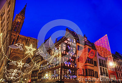 Capital do Natal de Strasbourg Imagem de Stock Editorial