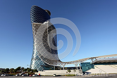 The Capital Gate building in Abu Dhabi Editorial Stock Photo