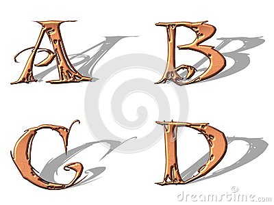 Capital Letters copper 1