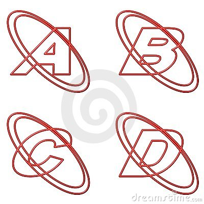 Free Capital Letters Red Outline 1 Stock Photography - 5259402