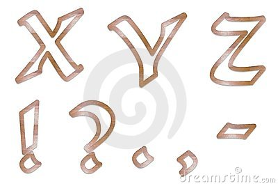 Capital Letters wood outline 5