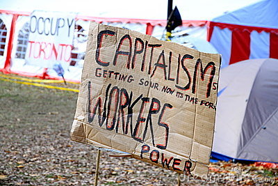 Capitalism Sign Editorial Photography