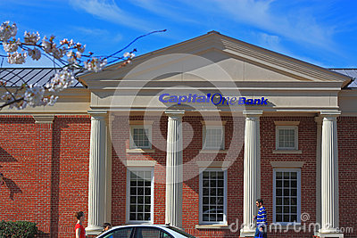 Capital One Bank Editorial Stock Photo