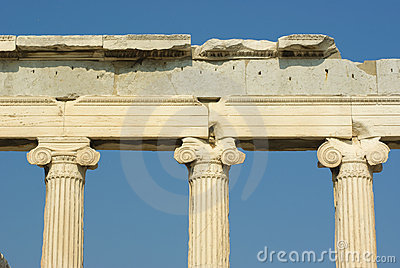 Capitals greek on Acropolis