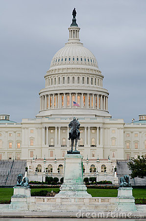 Capitol building in a cloudy morning , Washington