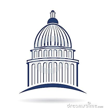 Free Capitol Building Logo Royalty Free Stock Photo - 36879595