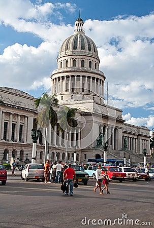Capitol of Cuba in La Havana Editorial Stock Image