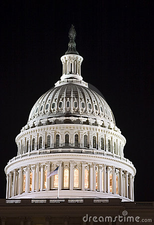 Capitol dome at night (Lights of the Washington DC)