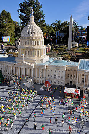 Free Capitol Made With Lego Blocks Royalty Free Stock Photos - 17949568