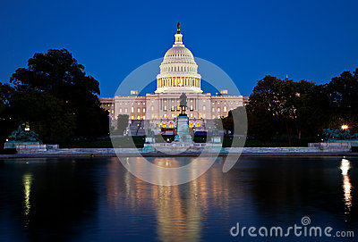 The Capitol at night