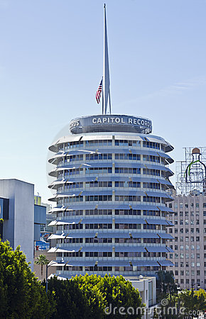 Capitol Records Building In The Heart Of Hollywood Editorial Stock Image